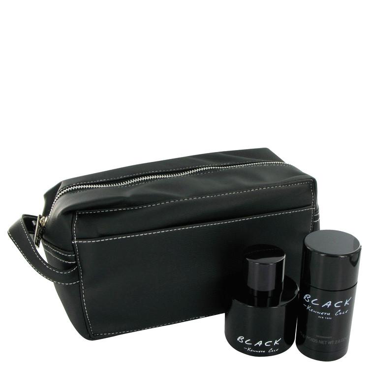 Kenneth Cole Black Gift Set -- Gift Set - 3.4 oz Eau De Toilette Spray + 2.6 oz Deodorant for Men