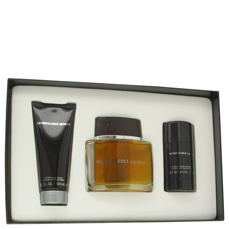 Kenneth Cole Signature Gift Set -- Gift Set - 3.4 oz Eau De Toilette Spray + 2.6 oz Deodorant Stick + 3.4 oz After Shave Balm for Men
