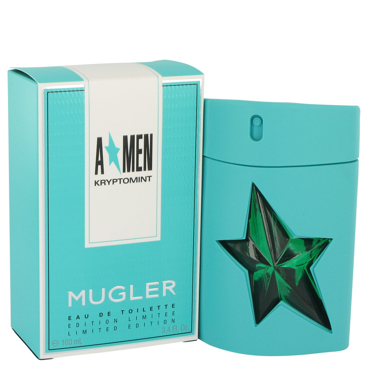 Angel Kryptomint Cologne by Thierry Mugler 100 ml EDT Spay for Men