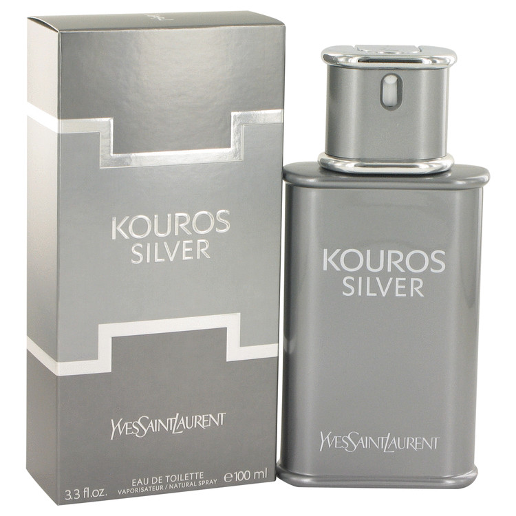 Kouros Silver Cologne by Yves Saint Laurent 100 ml EDT Spay for Men