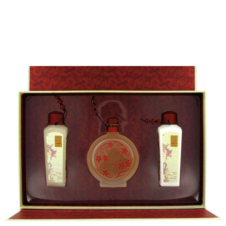 Lucky Number 6 Gift Set -- Gift Set - 3.4 oz Eau De Parfum Spray + 3.4 oz Body Milk + 3.4 oz Shower Gel for Women