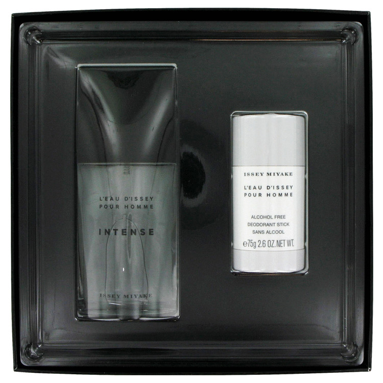 L'eau D'issey Pour Homme Intense for Men, Gift Set (2.5 oz EDT Spray + 2.5 oz Deodorant Stick)