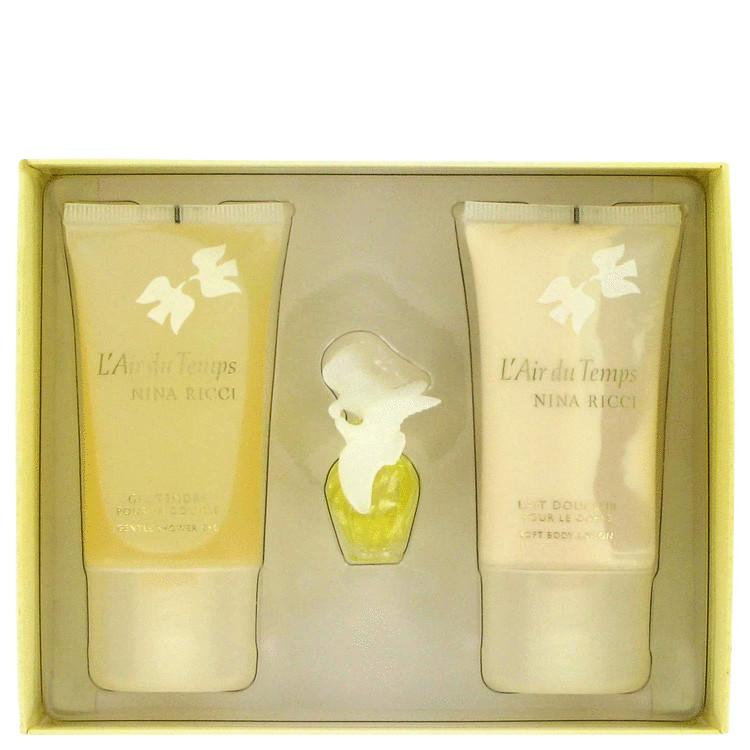 L'air Du Temps Gift Set -- Gift Set - .08 Mini +.84 Body Lotion + .84 Shower Gel for Women