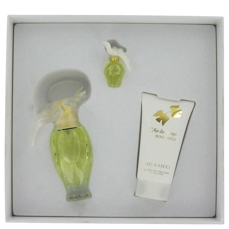 L'air Du Temps for Women, Gift Set (1.0 oz EDT Spray + 1.7 oz Body Lotion + .085 oz Mini EDT)