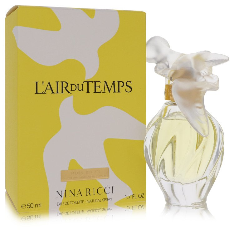 L'AIR DU TEMPS by Nina Ricci Eau De Toilette Spray With Bird Cap 1.7 oz