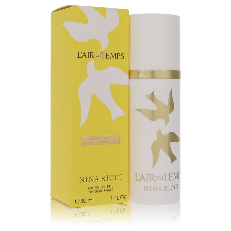 L'AIR DU TEMPS by Nina Ricci Eau De Toilette Spray with Bird Cap 1 oz