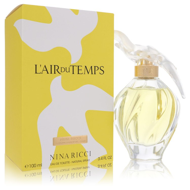 L'AIR DU TEMPS by Nina Ricci Eau De Toilette Spray With Bird Cap 3.3 oz