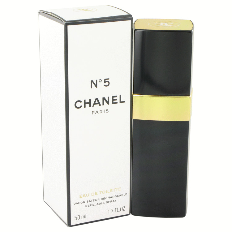 CHANEL No. 5 by Chanel for Women Eau De Toilette Spray Refillable 1.7 oz