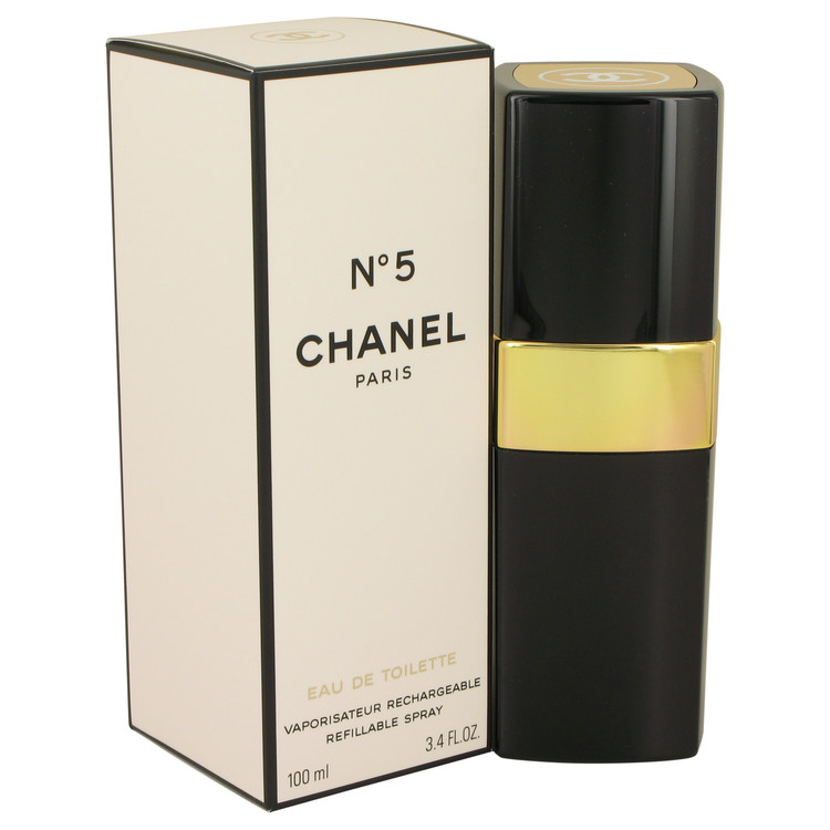 Chanel No. 5 Perfume 100 ml Eau De Toilette Spray Refillable for Women