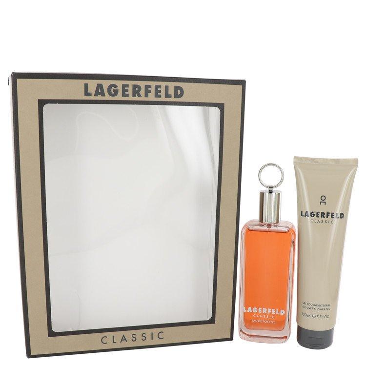Lagerfeld for Men, Gift Set (3.3 oz EDT Spray + 5 oz Shower Gel)