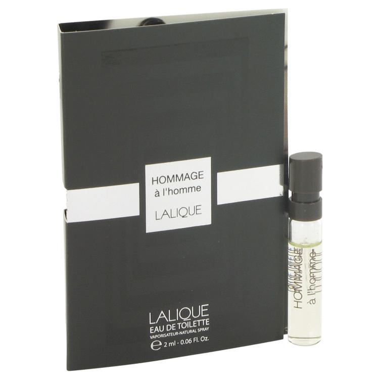 Lalique Hommage a L'Homme by Lalique for Men Vial (sample) .06 oz