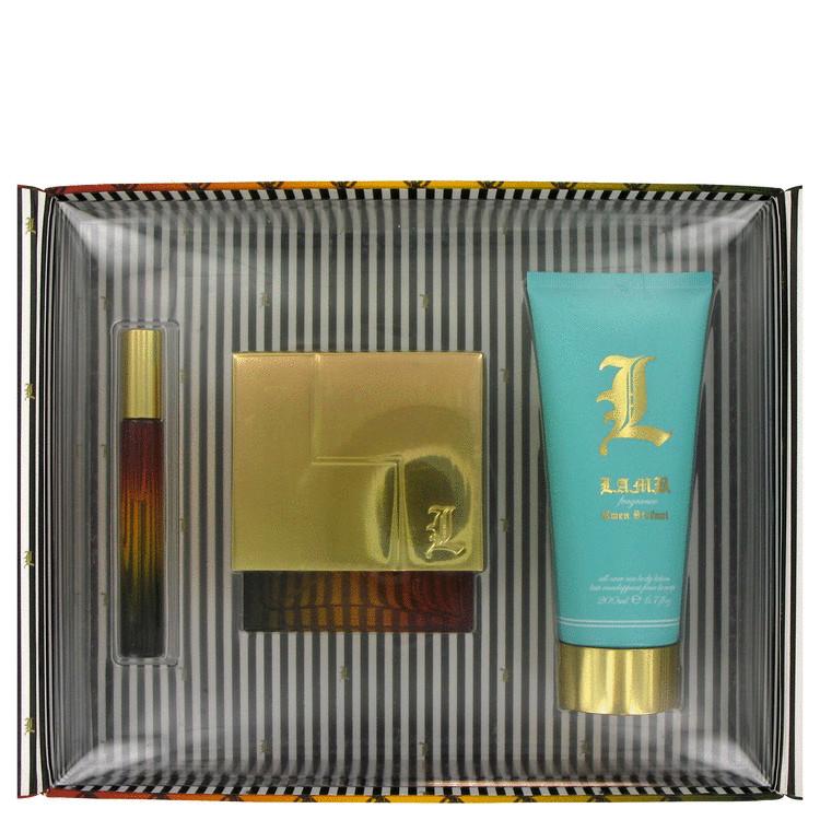 L Lamb Gift Set -- Gift Set - 3.4 oz Eau De Parfum Spray + 6.7 oz Body Lotion + .2 oz Mini EDP for Women