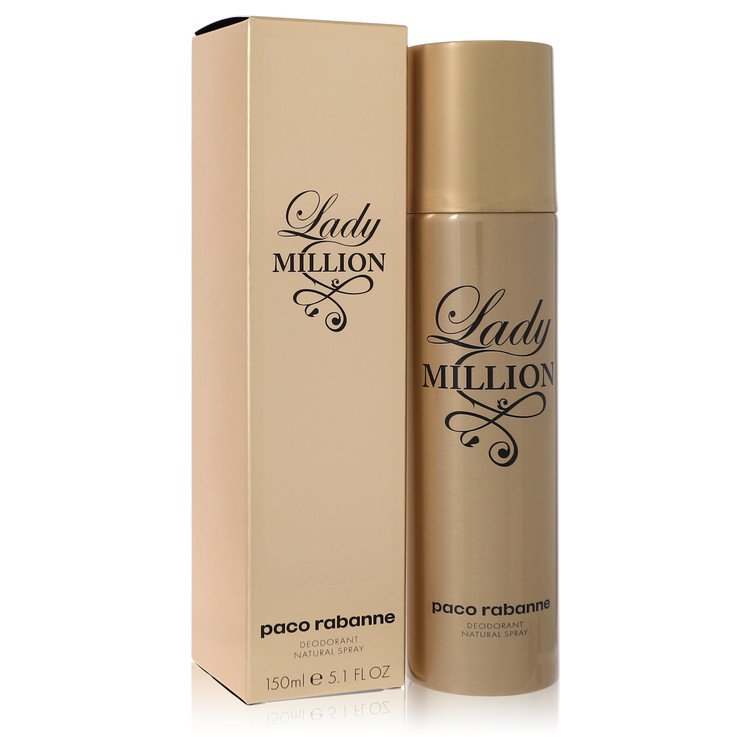 Lady Million Deodorant by Paco Rabanne 5 oz Deodorant Spray for Women