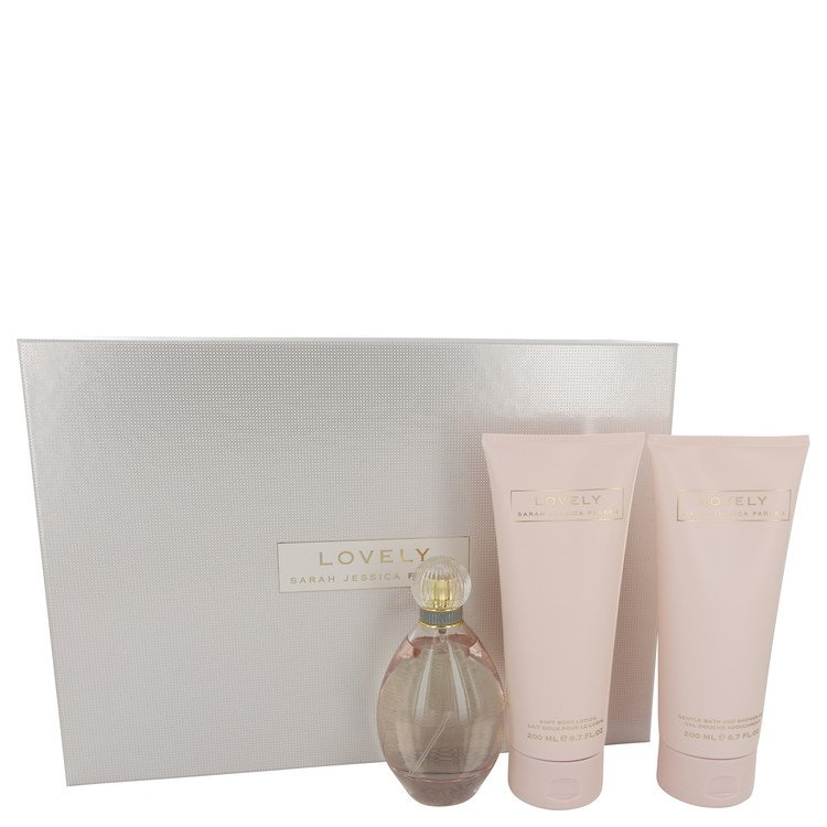 Lovely Gift Set -- Gift Set - 3.4 oz  Eau De Parfum Spray + 6.7 oz Body Lotion + 6.7 oz Shower Gel for Women