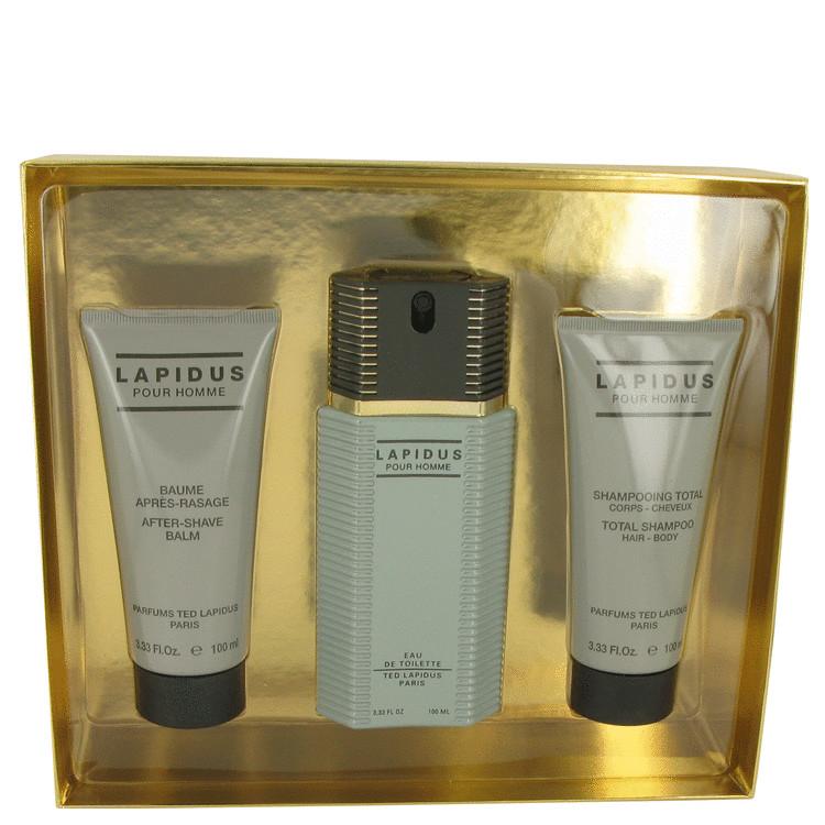 Lapidus Gift Set -- Gift Set - 3.3 oz Eau De Toilette Spray + 3.4 oz After Shave Balm + 3.4 oz Shower Gel for Men