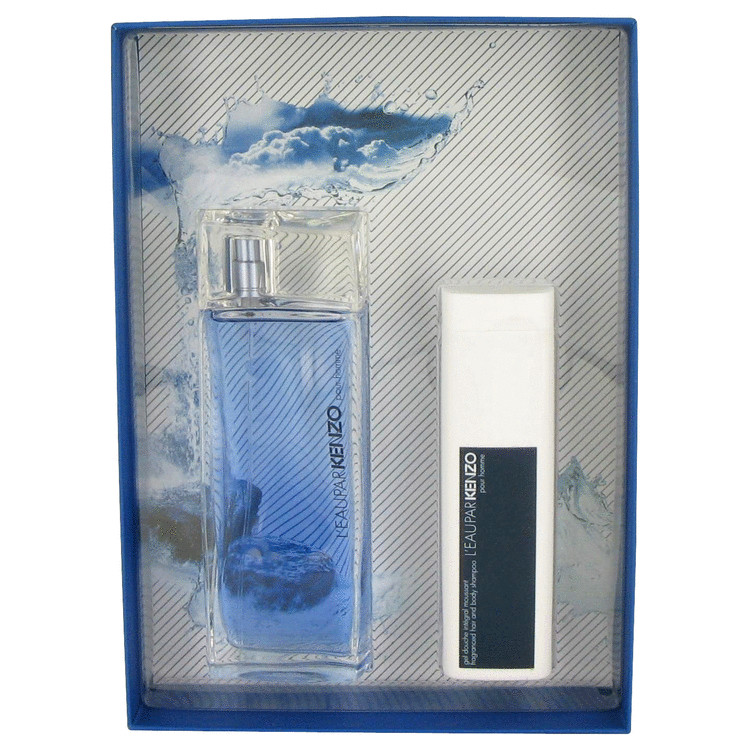 L'eau Par Kenzo Gift Set -- Gift Set - 3.4 oz Eau De Toilette Spray + 3.4 oz Hair & Body Shampoo for Men
