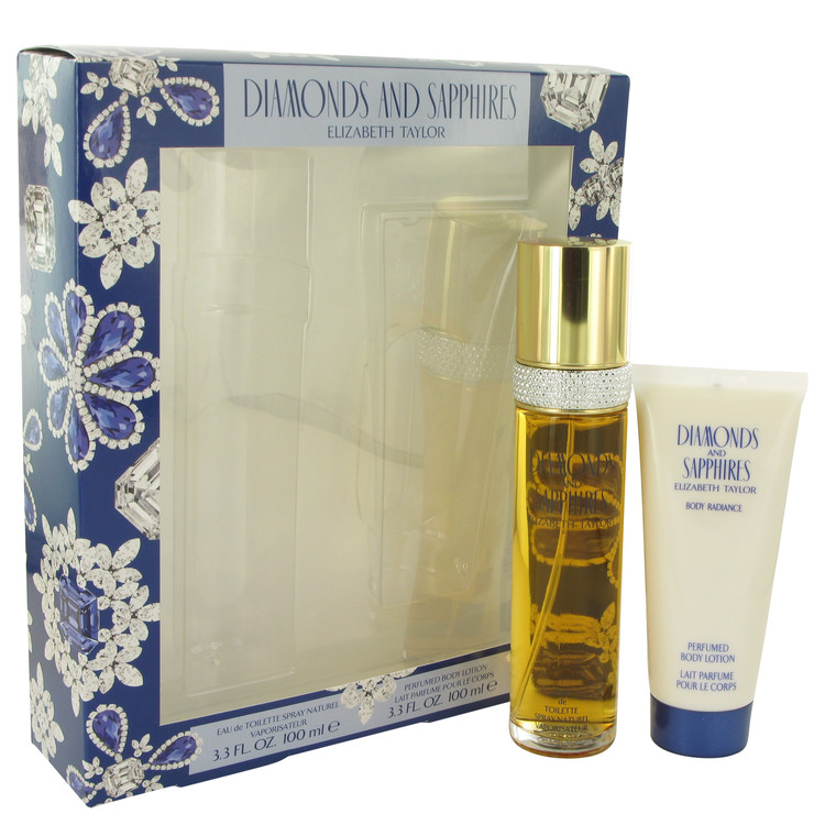 Diamonds & Saphires for Women, Gift Set (3.3 oz EDT Spray + 3.3 oz Body Lotion)