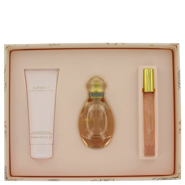 Lovely for Women, Gift Set (1.7 oz EDP Spray + 2.5 oz Body Lotion + .2 oz Roller Ball EDP)