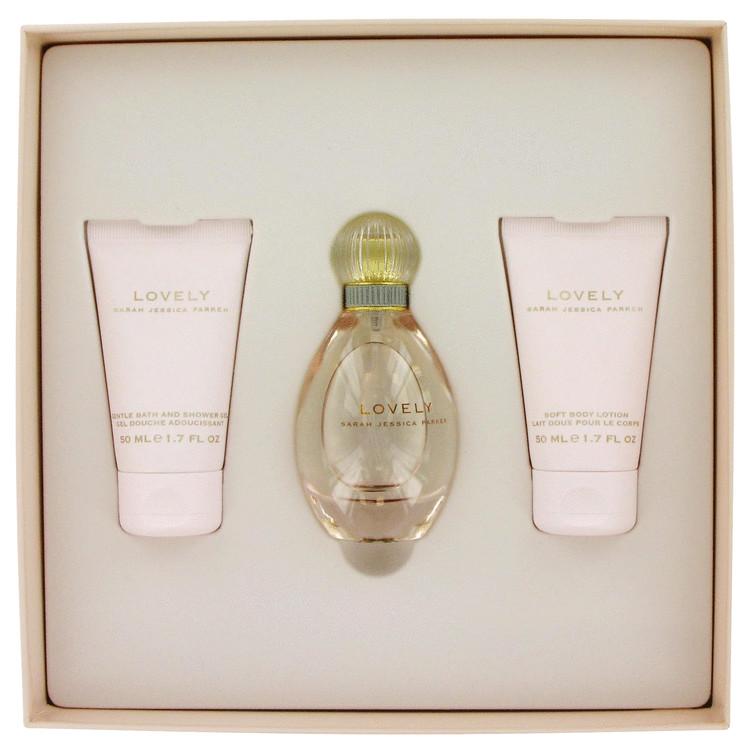 Lovely for Women, Gift Set (1.7 oz EDP Spray + 1.7 oz Body Lotion + 1.7 oz Shower Gel)