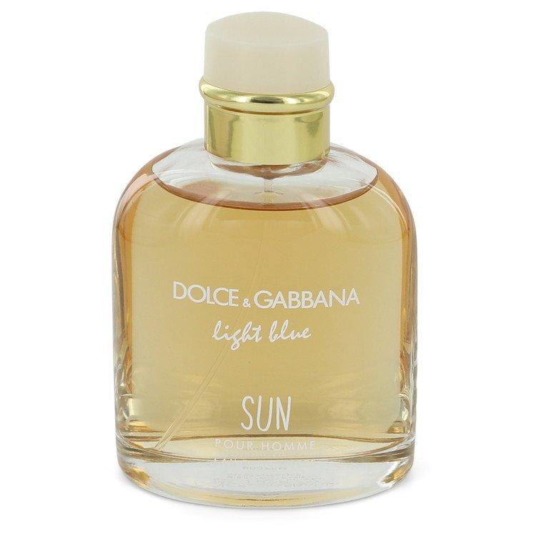Light Blue Sun by Dolce & Gabbana Men's Eau De Toilette Spray (unboxed) 4.2 oz