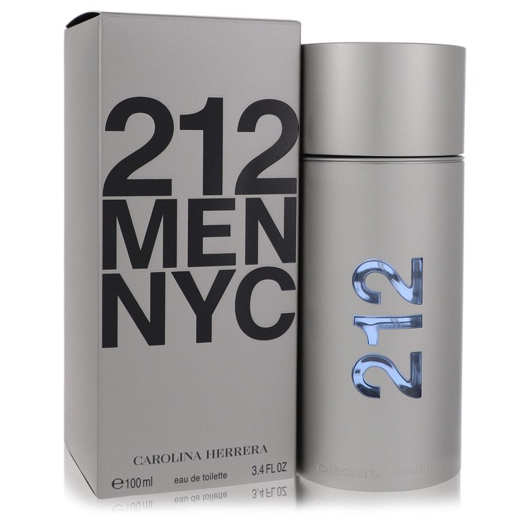 212 by Carolina Herrera for Men Eau De Toilette Spray (New Packaging) 3.4 oz