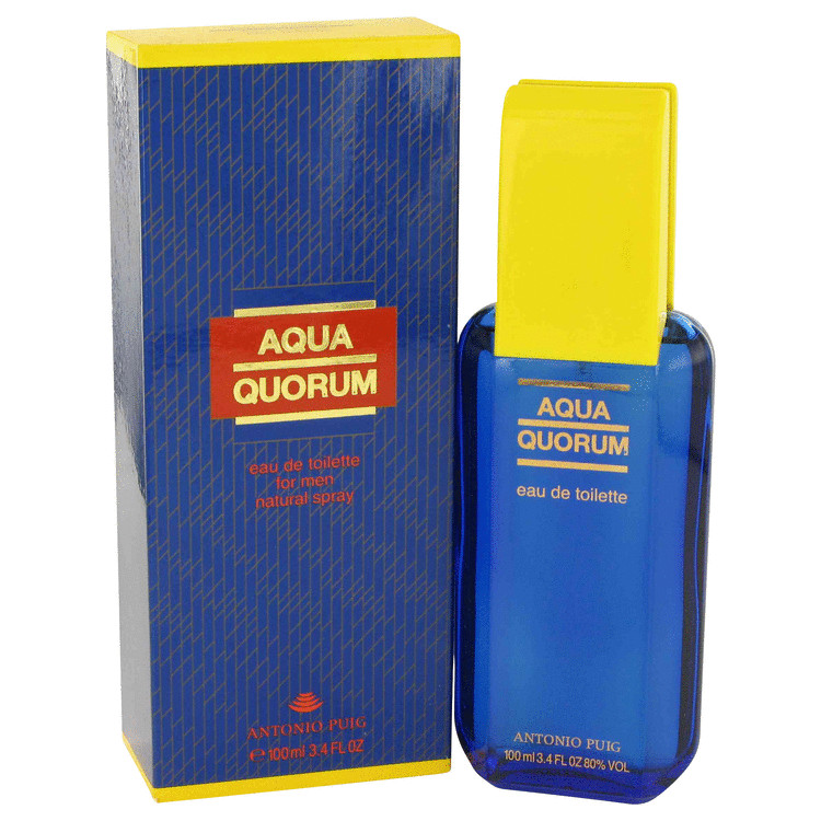 AQUA QUORUM by Antonio Puig –  Eau De Toilette Spray 3.4 oz 100 ml for Men