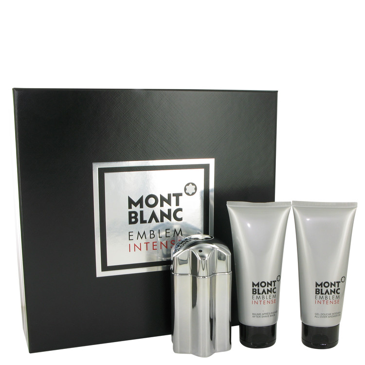 Montblanc Emblem Intense Gift Set -- Gift Set - 3.3 oz Eau De Toilette Spray + 3.3 oz After Shave Balm + 3.3 oz Shower Gel for Men