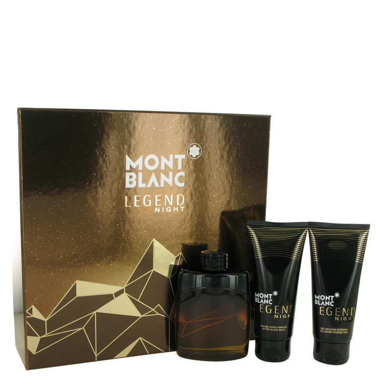 Montblanc Legend Night Gift Set -- Gift Set - 3.3 oz Eau De Parfum Spray + 3.3 oz After Shave Balm + 3.3 oz Shower Gel for Men