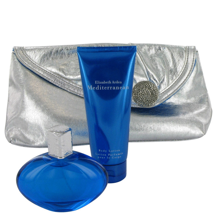 Mediterranean Gift Set -- Gift Set - 1.7 oz Eau De Parfum Spray + 3.4 oz Body Lotion + Bag for Women