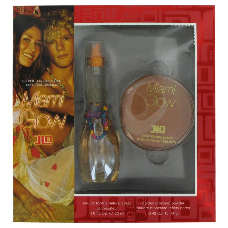 Miami Glow Gift Set -- Gift Set - 1 oz Eau De Toilette Spray + .49 Golden Bronzing Powder for Women