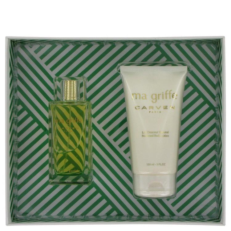 Ma Griffe Gift Set -- Gift Set - 3.3 oz Eau De Parfum Spray + 5 oz Body Lotion for Women