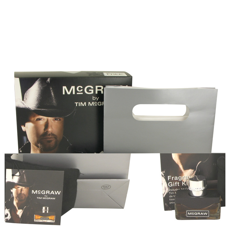 Mcgraw Gift Set -- Gift Set - .5 oz Eau De Toilette Spray + Gift Bag + Tissue Paper and Giftable Pouch with Card for Men