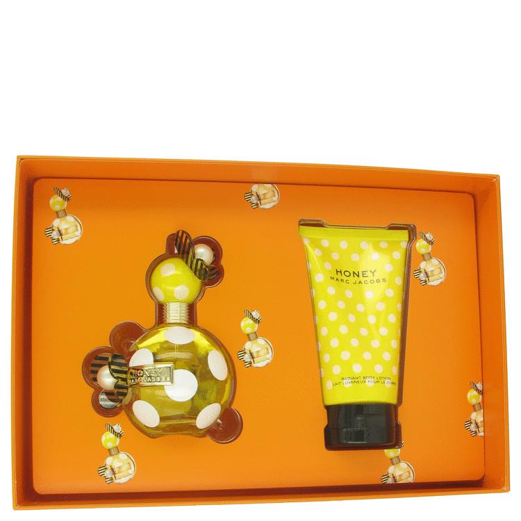 Marc Jacobs Honey Gift Set -- Gift Set - 3.4 oz Eau De Toilette Spray + 5 oz Body Lotion for Women