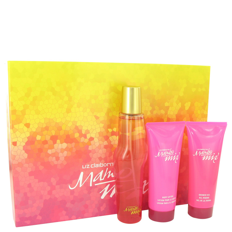 Mambo Mix Gift Set -- Gift Set - 3.4 oz Eau De Parfum Spray + 3.4 oz Body Lotion + 3.4 oz Shower Gel for Women