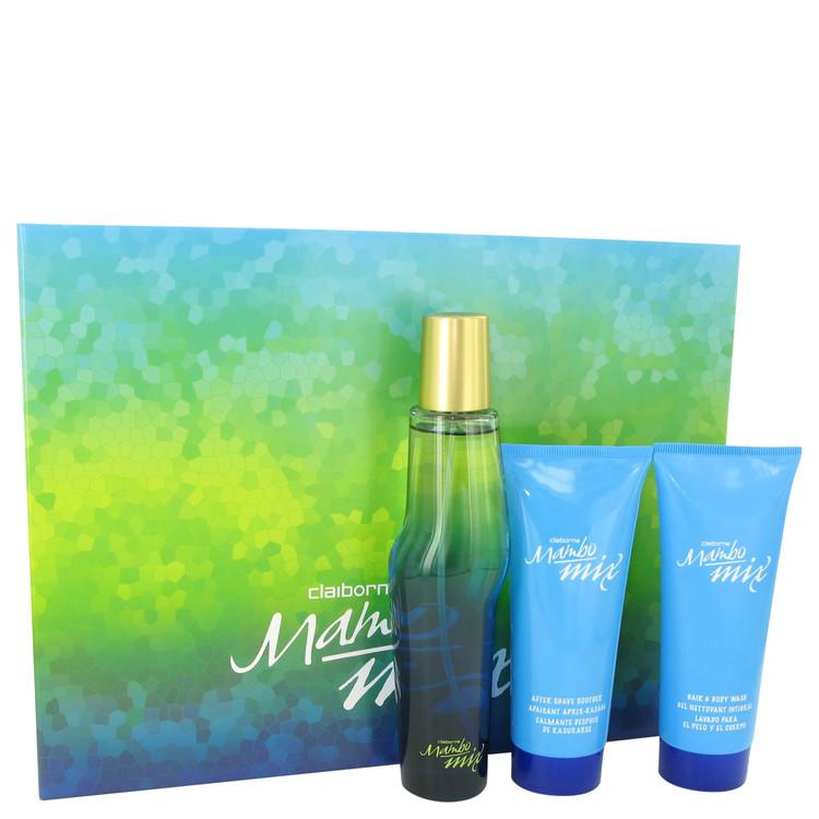 Mambo Mix by Liz Claiborne for Men Gift Set -- 3.4 oz Eau De Cologne Spray + 3.4 oz After Shave Soother + 3.4 oz Shower Gel
