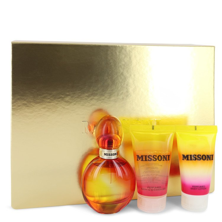 Missoni by Missoni – Gift Set – 1.7 oz Eau De Toilette Spray + 1.7 oz Body Lotion + 1.7 oz Shower Gel — for Women