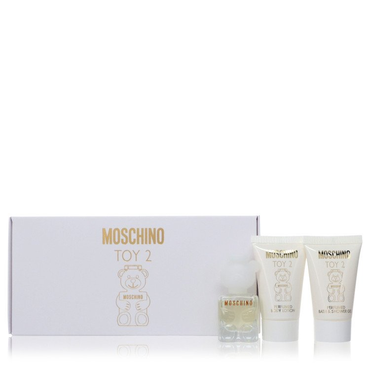 Moschino Toy 2 by Moschino –  Gift Set — .17 oz Mini EDP Spray + .8 oz Body Lotion + .8 oz Shower Gel — for Women
