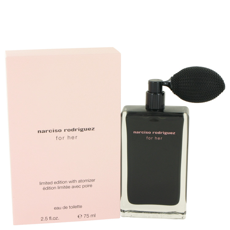 Narciso Rodriguez Perfume 75 ml Eau De Toilette with Atomizer (Limited Edition) for Women