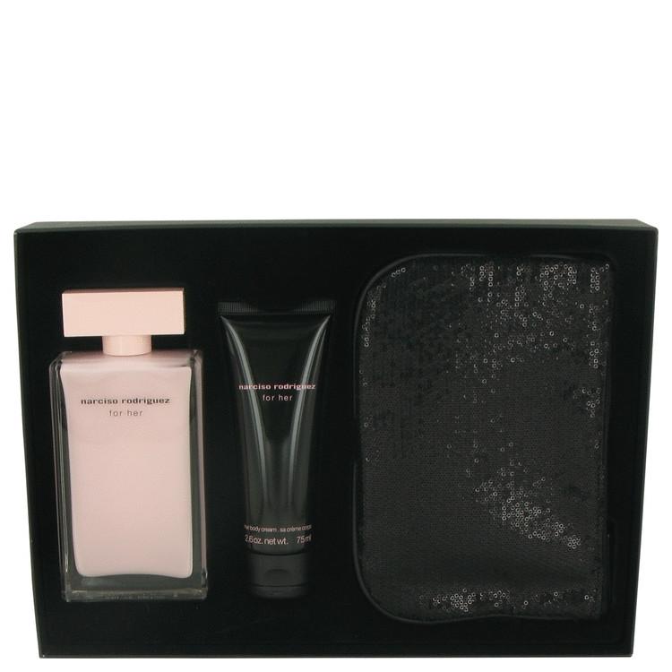 Narciso Rodriguez Gift Set -- Gift Set - 3.3 oz Eau De Parfum Spray + 2.6 oz Body Cream + Pouch for Women