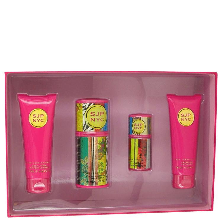 Sjp Nyc for Women, Gift Set (2 oz EDT Spray + 2.5 oz Body Lotion + 2.5 oz Shower Gel + 1/2 oz EDT Spray)