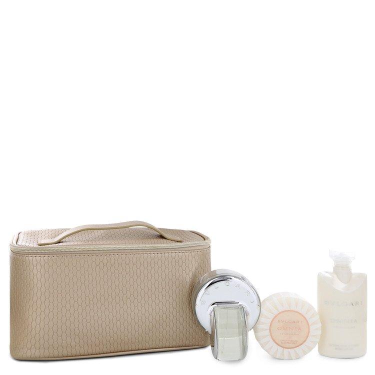 Omnia Crystalline Gift Set -- Gift Set - 2.2 oz Eau De Toilette Spray + 2.5 oz Body Lotion + 2.5 oz Shower Gel + Toiletry Bag for Women