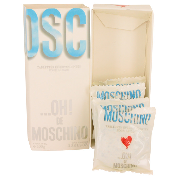 OH DE MOSCHINO by Moschino Effervescentes Soap Tablets (boxes slightly damaged) 4 x .84 oz
