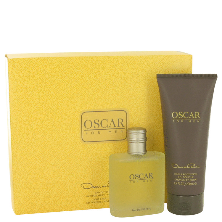 Oscar Gift Set -- Gift Set - 3.4 oz Eau De Toilette Spray + 6.7 oz Hair & Body Wash for Men