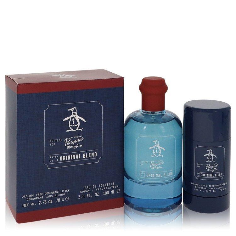 Original Penguin Original Blend Gift Set -- Gift Set - 3.4 oz Eau De Toilette Spray + 2.75 Deodorant Stick (Alcohol Free) for Men