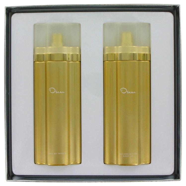 Oscar Gift Set -- Gift Set - 3.3 oz Eau De Parfum Spray + 3.3 oz Golden Glittering Body Oil for Women