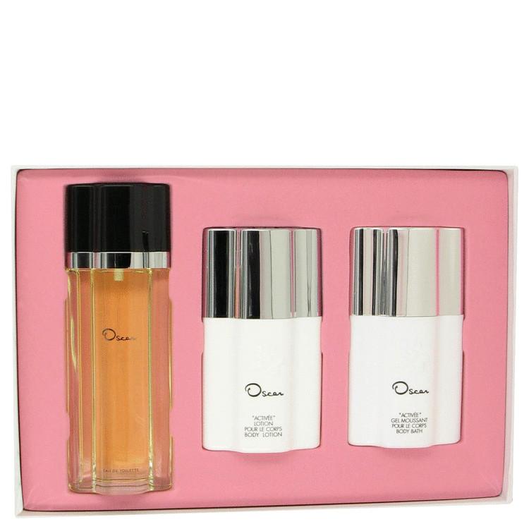 Oscar Gift Set -- Gift Set - 3.4 oz Eau De Toilette Spray + 4 oz Body Lotion + 4 oz Body Bath for Women