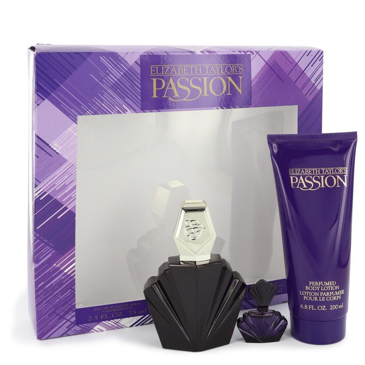 Passion Gift Set -- Gift Set - 2.5 oz Eau De Toilette Spray + .12 oz Mini EDP + 6.8 oz Body Lotion for Women