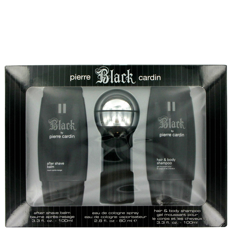 Black Gift Set -- Gift Set - 2.8 oz Eau De Cologne Spray + 3.3 oz After Shave Balm + 3.3 oz Hair & Body Shampoo for Men