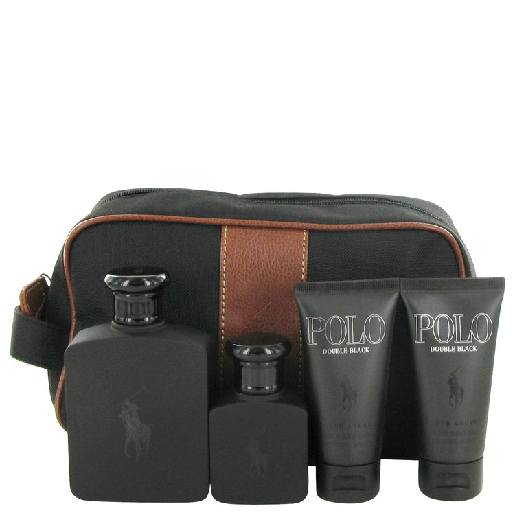Polo Double Black Gift Set -- Gift Set - 4.2 oz Eau De Toilette Spray + 1.3 oz Eau De Toilette Spray + 1.7 oz After Shave Gel + 1.7 oz Shower Gel + Ba