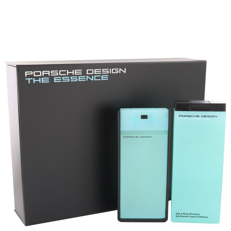The Essence by Porsche for Men Gift Set -- 2.7 oz Eau De Toilette Spray + 6.8 oz Shower Gel